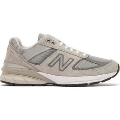 ニューバランス New Balance レディース スニーカー シューズ・靴 990v5 suede and mesh trainers Grey
