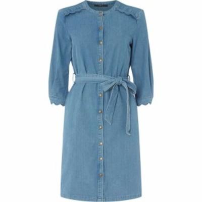 セット SET レディース ワンピース デニム シャツワンピース ワンピース・ドレス Denim Shirt Dress BLUE DENIM