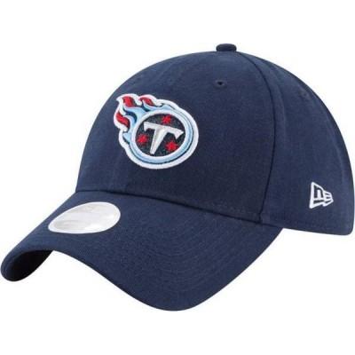 ニューエラ レディース 帽子 アクセサリー New Era Women's Tennessee Titans Navy Glisten 9Twenty Adjustable Hat