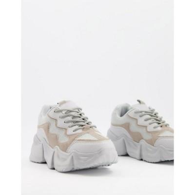 トリュフコレクション レディース スニーカー シューズ Truffle Collection chunky sneakers with exaggerated sole in gray