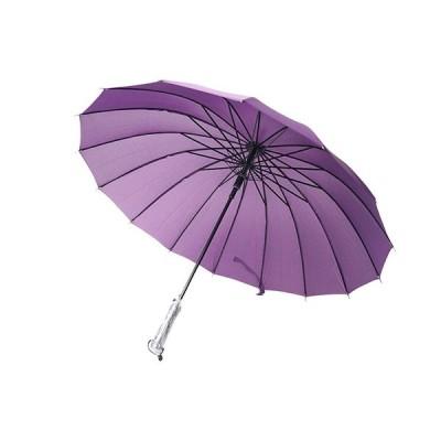 和傘 蛇の目風 ロング カバー付き 16本骨組 (紫)