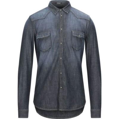 オフィチーナ トレンタ セイ OFFICINA 36 メンズ シャツ デニム トップス Denim Shirt Blue