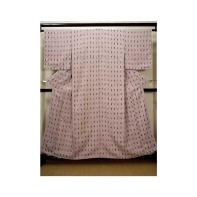 着物 女性用  織 女性用着物  シルク(正絹) クリーミーな 薄い ピンク, 抽象的模様 中古 USED リサイクル ★★☆☆☆
