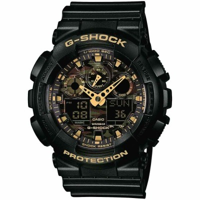 カシオ 腕時計 Casio G-SHOCK GA100CF-1A9 Camouflage Dial Black Analog-Digital 200m メンズ Watch