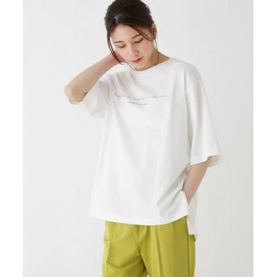 SHOO・LA・RUE/シューラルー ロゴTシャツ オフホワイト(003) 04(LL)