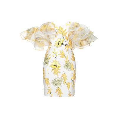 FOREVER UNIQUE ミニワンピース&ドレス イエロー 8 ポリエステル 95% / ポリウレタン 5% ミニワンピース&ドレス