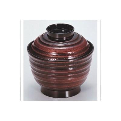 小吸椀 3.5寸乱筋椀栃 漆器 高さ70 直径:100/業務用/新品