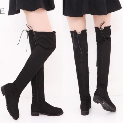 膝丈 ニーハイブーツ ロング丈 靴 秋 冬 ローヒール 裏起毛 美脚 歩きやすい 大きいサイズロングブーツ ブーツ レディース