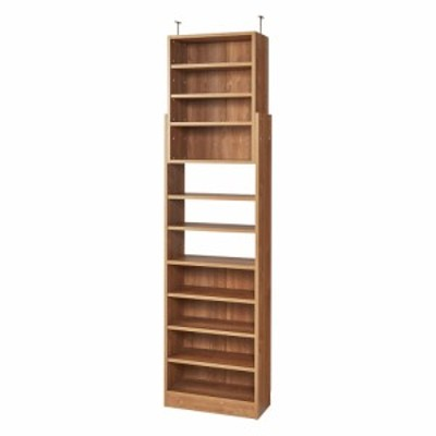 家具 収納 本棚 ラック シェルフ 棚 1台で壁いっぱいに本を収納!本好きのための壁面つっぱり本棚 本体幅60奥行29.5cm 592755