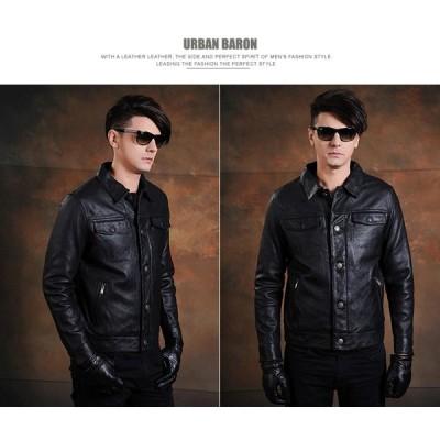 バイクジャケット ライダースジャケット 本革 レザージャケット ジャケット 革ジャン 新品メンズ 高級牛革