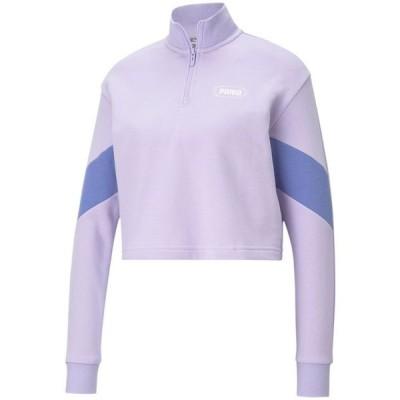 プーマ レディース シャツ トップス Rebel Half-Zip Cropped Sweatshirt