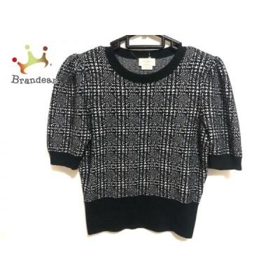 ケイトスペード Kate spade 半袖セーター サイズS レディース - 黒×白   スペシャル特価 20210107