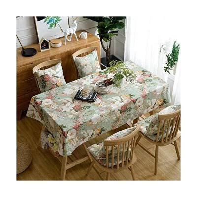 【送料無料】Table Cloth Modern Rectangle Tablecloth Decoration Simple Pure Cotton Pastoral Table Cloth Dust Kitchen Table Cover Green