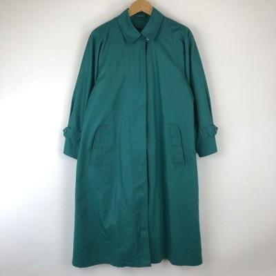 【古着】 LONDON FOG ステンカラーコート made in USA 着脱ライナー ヴィンテージ グリーン系 レディースM n016673