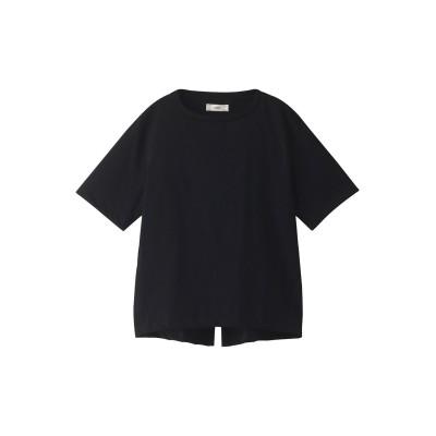 unfil アンフィル オーガニックコットンバックスリットTシャツ レディース ブラック 1
