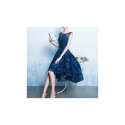 ドレス フィッシュテール 刺繍 エレガント 上品 大人 結婚式 fe-0312