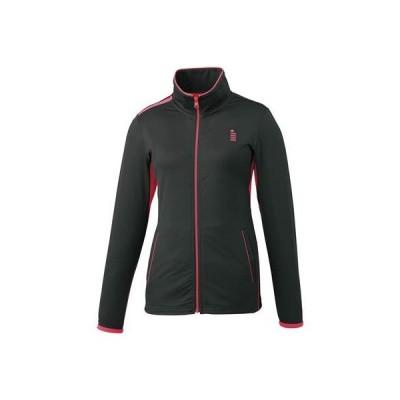 ゴーセン レディース テニス ストレッチジャージジャケット ブラック W1705 39 S
