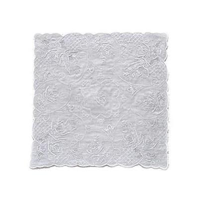 スワトウ レディース ハンカチ 汕頭刺繍 約29cm 婦人 手刺繍 050210-4202-10