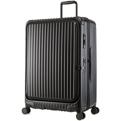 【カバンのセレクション】 カーゴ エアレイヤー スーツケース LLサイズ 100L フロントオープン ストッパー付き 軽量 CARGO cat738ly ユニセックス ブラック フリー Bag&Luggage SELECTION