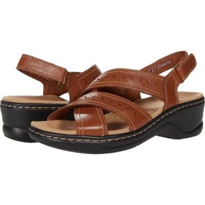 クラークス Clarks レディース サンダル・ミュール シューズ・靴 Lexi Pearl Dark Tan Leather