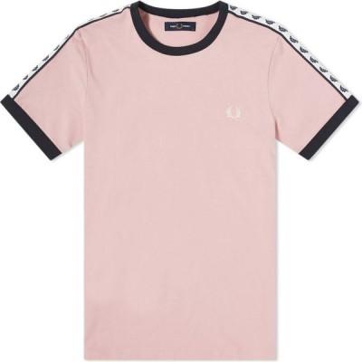 フレッドペリー Fred Perry Authentic メンズ Tシャツ トップス Taped Ringer Tee Chalky Pink