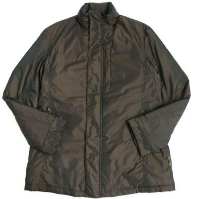 美品□アルマーニコレツィオーニ 撥水加工 内ポケット付き フード入り ハーフコート/ジャケット 46 ブラウン 正規品 雨の日も◎