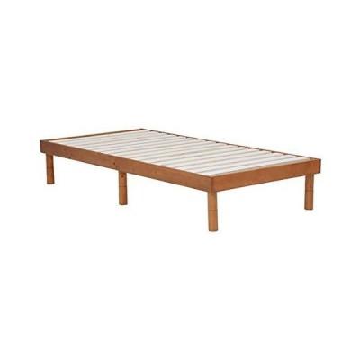 木製シングルベッド ヘッドボード無し すのこ床板 床面高さ3段階 シンプルスタイル フラットベットフレーム ?