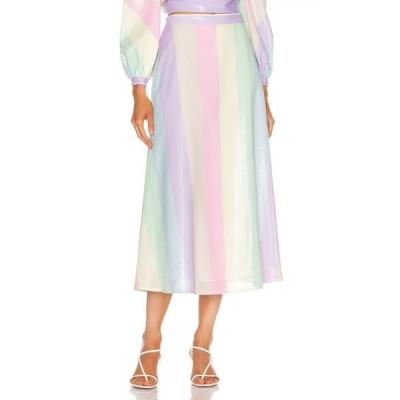 オリビアルービン Olivia Rubin レディース ひざ丈スカート スカート penelope skirt Neapolitan Stripe