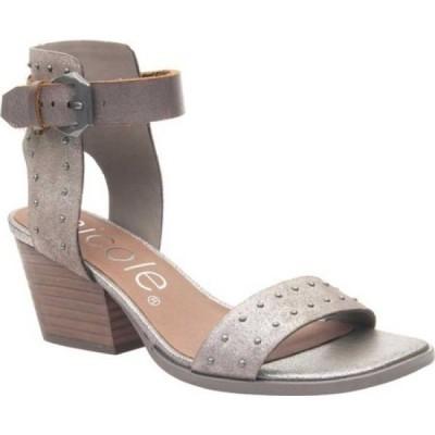 ニコル Nicole レディース サンダル・ミュール アンクルストラップ シューズ・靴 Amabel Ankle Strap Sandal Grey Pewter Leather