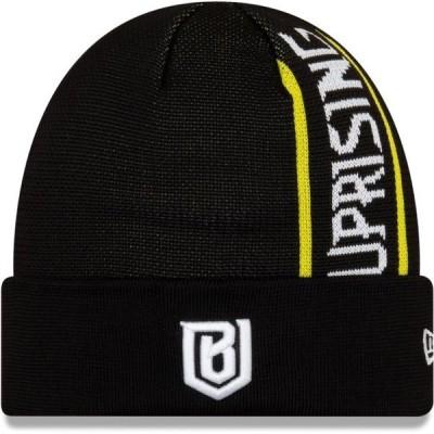 ユニセックス スポーツリーグ Eスポーツ Boston Uprising New Era Cuffed Knit Hat - Black - OSFA