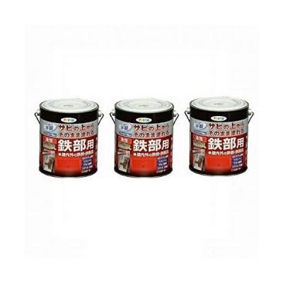 Asahipen(アサヒペン) 油性高耐久鉄部用 赤 1.6L 【まとめ買い3缶セット】