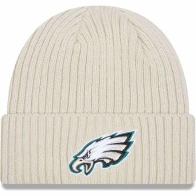 ニューエラ New Era メンズ ニット ビーニー 帽子 Philadelphia Eagles Core Cuffed Knit White Beanie