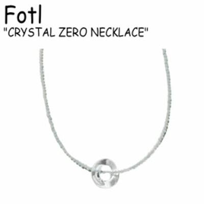 フォトゥル ネックレス Fotl CRYSTAL ZERO NECKLACE クリスタル ゼロ ブルー イエロー ブラック 韓国アクセサリー 291 ACC