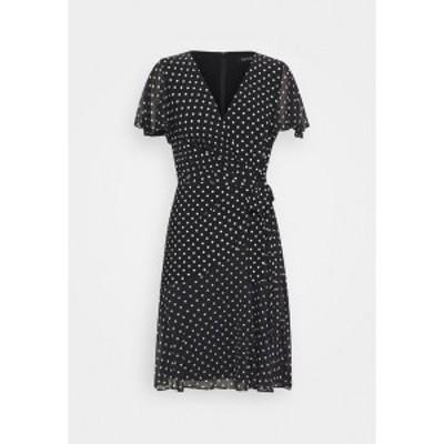 ラルフローレン レディース ワンピース トップス PRINTED DRESS - Jersey dress - black black