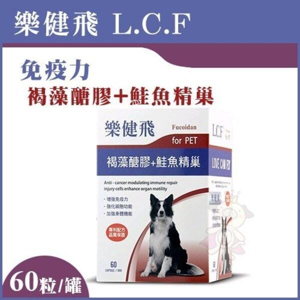 樂健飛l.c.f免疫力 褐藻醣膠+鮭魚精巢60粒/罐
