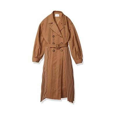 ムルーア コート サイドプリーツイレヘムコート レディース 012020000201 ベージュ 日本 F (FREE サイズ)
