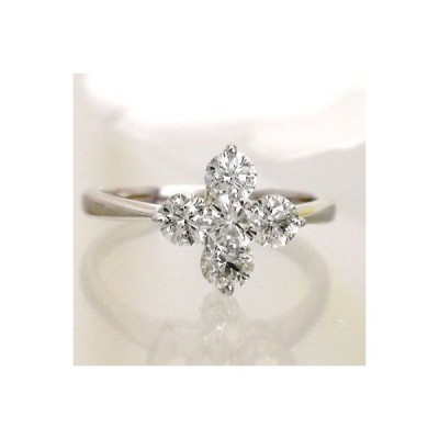 指輪 クロス ダイヤモンド リング k18ゴールド 18金 ダイヤ1ct レディース ジュエリー アクセサリー