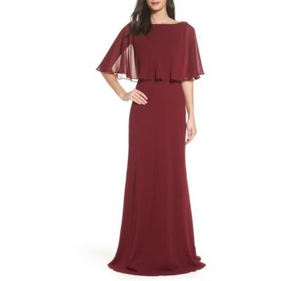 ラフェム レディース ワンピース トップス La Femme Popover Chiffon Gown