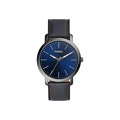 Fossil Luther 3H Three-Hand Smoke Leather Watch BQ2477