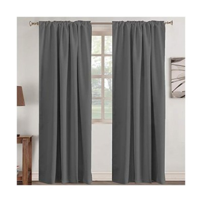 Blackout Window Treatment Curtains Back Tab for Living Room/Bedroom Window Treatments Thermal Insulated Light Blocking Kid Room Curtain Drap