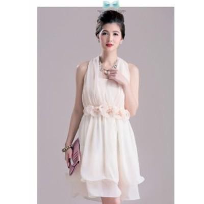全2色 3way シフォン素材 結婚式パーティードレス 成人式ドレス 謝恩会ドレス