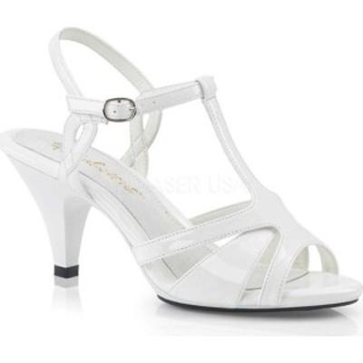 ファブリシャス レディース サンダル シューズ Belle 322 T-Strap Sandal (Women's) White Patent/White