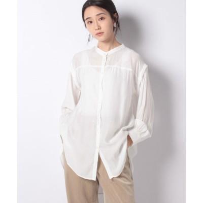 ehka sopo 【ehka sopo】後ろリボンチュニックシャツ(オフ)【返品不可商品】