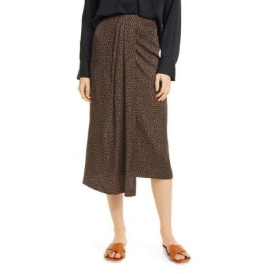 ヴィンス レディース スカート ボトムス Drape Silk Blend Skirt BLACK