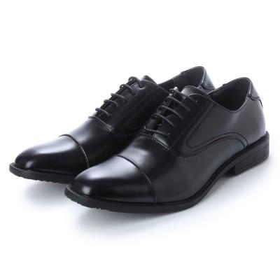 ブラッチャーノ Bracciano ビジネスシューズ メンズ 4cm4時間防水機能付き 紳士靴(ストレートチップ) (BLACK)