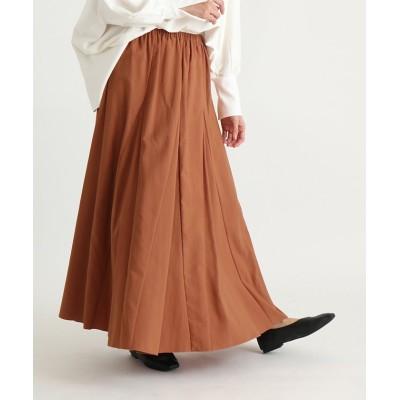 【スコットクラブ】 Bouchon(ブション) ナイロンギャザーカラースカート レディース ダーク オレンジ M SCOTCLUB