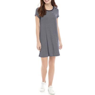 ラブファイヤ レディース ワンピース トップス Junior's Short Sleeve Stripe Ringer Swing Dress