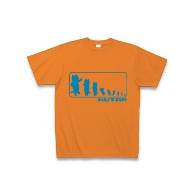 KUTAR Tシャツ Pure Color Print (オレンジ)
