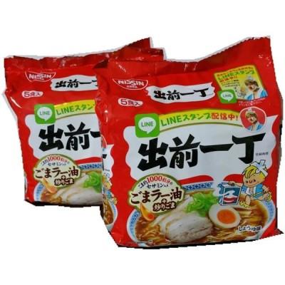 日清食品 出前一丁 しょうゆ ごまラー油+炒りごま 5食パック×2