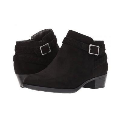 LifeStride ライフストライド レディース 女性用 シューズ 靴 ブーツ アンクル ショートブーツ Adriana - Black Micro